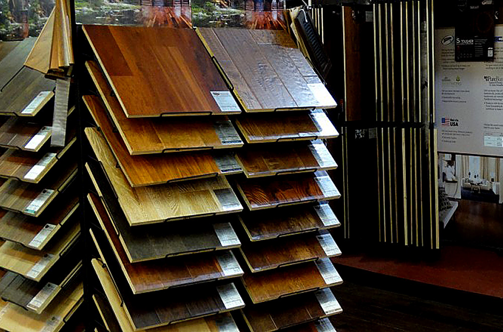 We have hundreds of flooring samples in our store